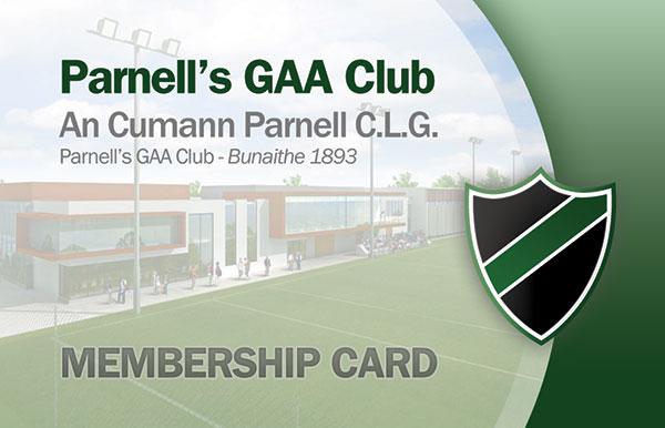 Parnells Gaa Club | Club Membership Management System, Membership
